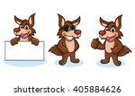 coyote mascot vector happy ... | Shutterstock .eps vector #405884626