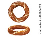 traditional turkish bagel...   Shutterstock .eps vector #405886024