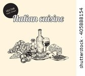 vector set of italian national... | Shutterstock .eps vector #405888154