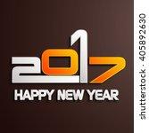 happy new year 2017 creative...   Shutterstock .eps vector #405892630