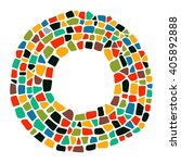 mosaic colorful frame. isolated ... | Shutterstock .eps vector #405892888