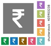 indian rupee sign flat icon set ...