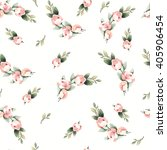 floral watercolor pattern with... | Shutterstock .eps vector #405906454