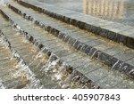 water flows through the granite ... | Shutterstock . vector #405907843