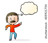 cartoon man with mustache... | Shutterstock .eps vector #405921754