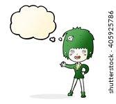 cartoon vampire girl with... | Shutterstock .eps vector #405925786