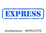 express rubber blue stamp text... | Shutterstock . vector #405931570