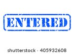 entered rubber blue stamp text... | Shutterstock . vector #405932608