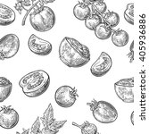 seamless pattern with tomato ... | Shutterstock .eps vector #405936886