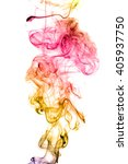 Colored Smoke Isolated On Whit...