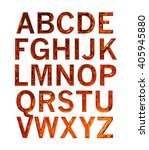3d alphabets on isolated white... | Shutterstock . vector #405945880