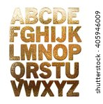 3d Alphabets On Isolated White...