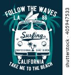 california typography for t... | Shutterstock .eps vector #405947533