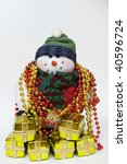 snowman with many gifts | Shutterstock . vector #40596724