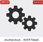 cog wheel icon vector.settings... | Shutterstock .eps vector #405970660
