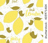 fruit seamless hand drawn... | Shutterstock .eps vector #405971404
