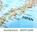 map of the japan with focus on...   Shutterstock . vector #405972640