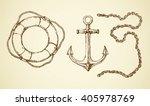 navy schooner steel armature ... | Shutterstock .eps vector #405978769