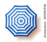 beach umbrella. vector... | Shutterstock .eps vector #405981958