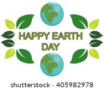 earth day design with the words ...