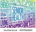 senior health word cloud... | Shutterstock .eps vector #405986884