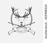 hunting club icon.  | Shutterstock .eps vector #405988324