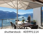 terrace of house with dining... | Shutterstock . vector #405991114