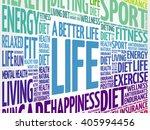 a better life word cloud... | Shutterstock .eps vector #405994456