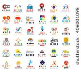 children icons set isolated on... | Shutterstock .eps vector #406001098
