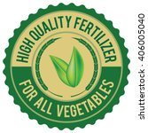 fertilizer label | Shutterstock .eps vector #406005040