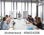 hipster business man holding...   Shutterstock . vector #406014208