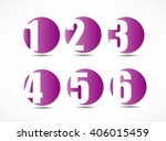 collection of empty rounded... | Shutterstock .eps vector #406015459