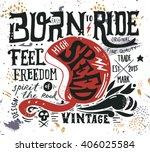 hand drawn grunge vintage... | Shutterstock .eps vector #406025584