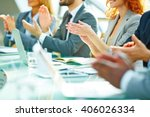 business people clapping at... | Shutterstock . vector #406026334