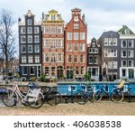 View Of Amsterdam Canal With ...
