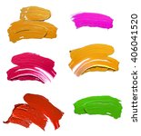 set of colorful  oil paint... | Shutterstock . vector #406041520