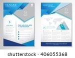 vector brochure flyer design... | Shutterstock .eps vector #406055368