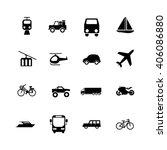 transport icon set on white... | Shutterstock .eps vector #406086880