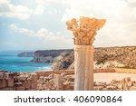 Ancient Column At Kourion...