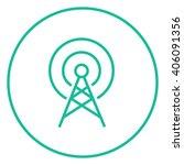 antenna line icon. | Shutterstock .eps vector #406091356