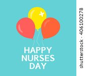 happy nurses day poster with... | Shutterstock .eps vector #406100278