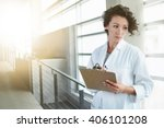 portrait of a serious female...   Shutterstock . vector #406101208