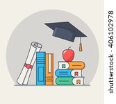 back to school card. vector... | Shutterstock .eps vector #406102978