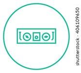 dj console line icon. | Shutterstock .eps vector #406109650