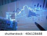 stock market information and... | Shutterstock . vector #406128688