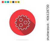 vector illustration of gear icon | Shutterstock .eps vector #406128730