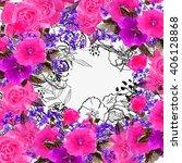 flower  illustration. bouquets... | Shutterstock . vector #406128868