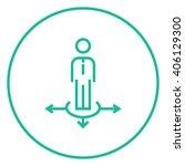 businessman in three ways line...   Shutterstock .eps vector #406129300