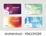 a set of discount cards with... | Shutterstock .eps vector #406134184