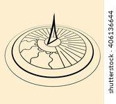 black sundial silhouette in... | Shutterstock .eps vector #406136644